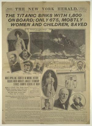 Naufrage du Titanic le 15 avril 1912 Wreck dans Cinema