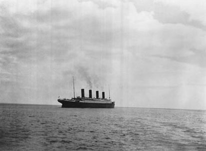 Last picture of Titanic leaving Cherbourg april 11th 1912