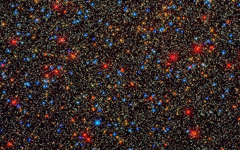very small region inside the globular cluster Omega Centauri
