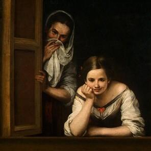 Bartolomé Esteban Murillo, born Jan 1, 1617 - Two Women at a Window, 1660 (4)
