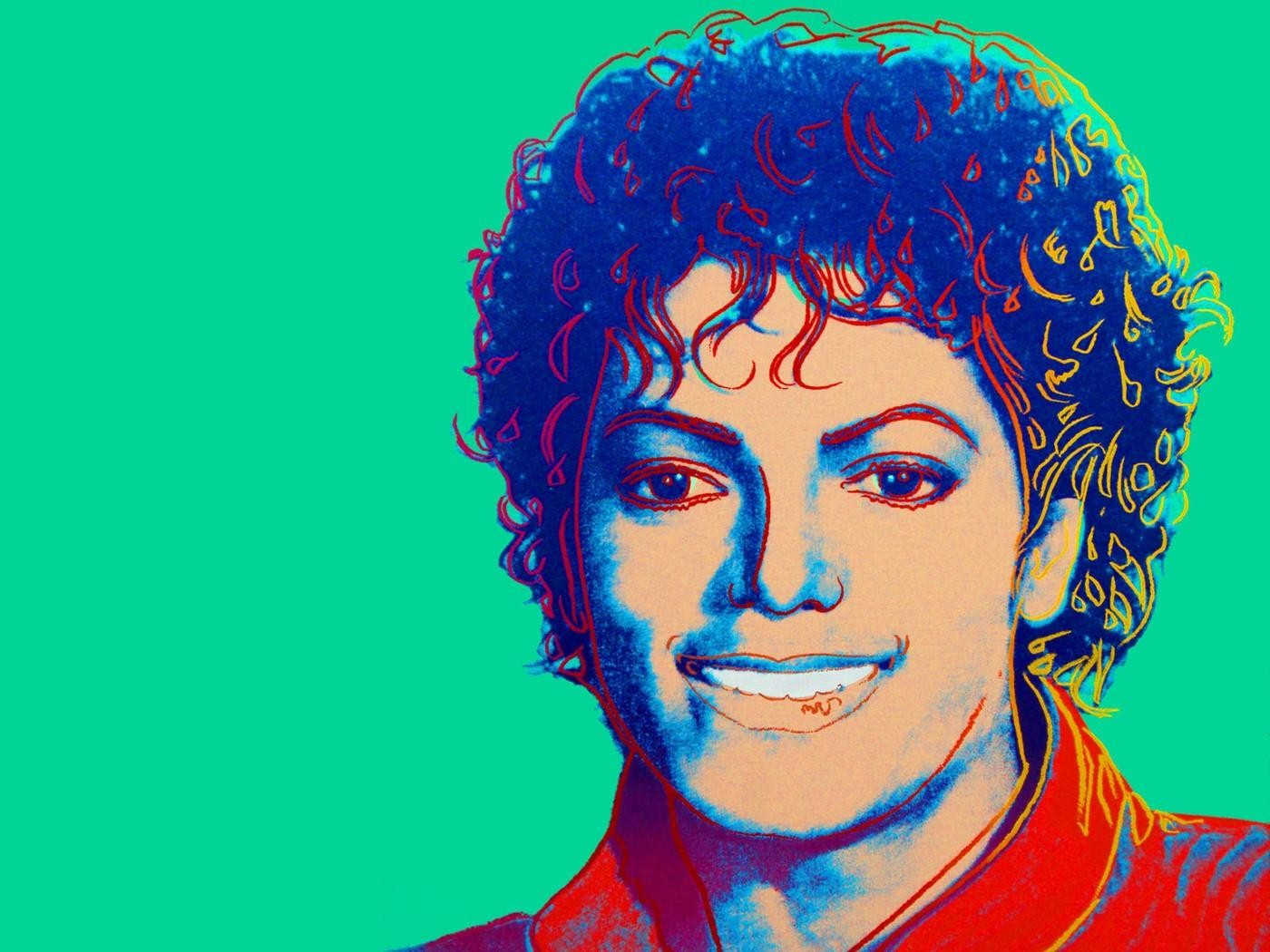 Michael Jackson by Andy Warhol (1984) wallpaper 1024x768