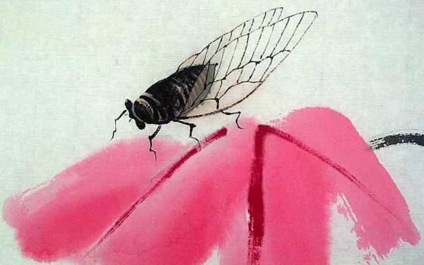Qi Baishi, born Jan 1, 1864 - Cicada and Amaranths, 1942