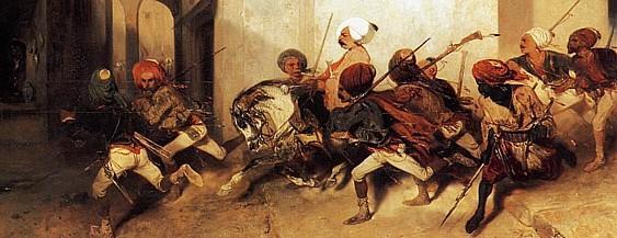 La patrouille turque (détail), 1831, par Alexandre-Gabriel Decamps