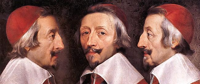 Cardinal de Richelieu (detail) par Philippe de Champaigne (1637) s